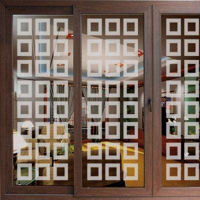 49 in. x 13.75 in. Neuvo Blocks Premium Glass Etch Window Film