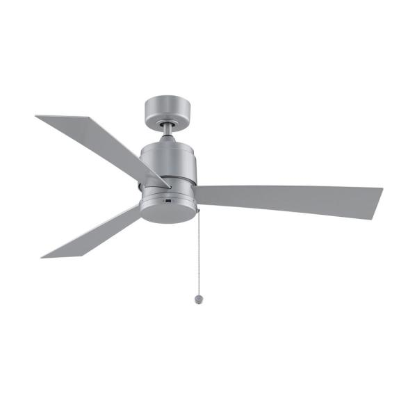 Zonix Wet 52 in. Indoor/Outdoor Silver Ceiling Fan with Silver Blades