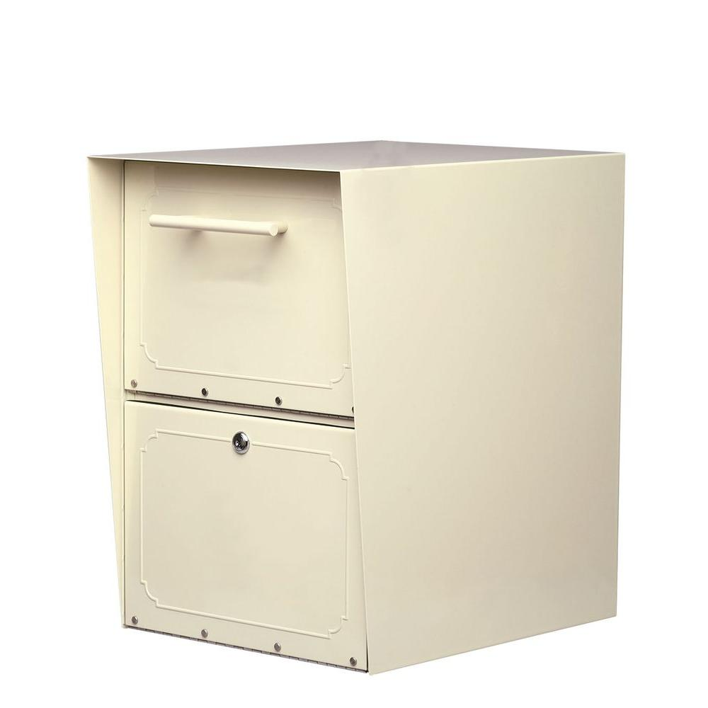 Architectural Mailboxes Oasis Sand Post-Mount or Column-Mount Locking Drop Box