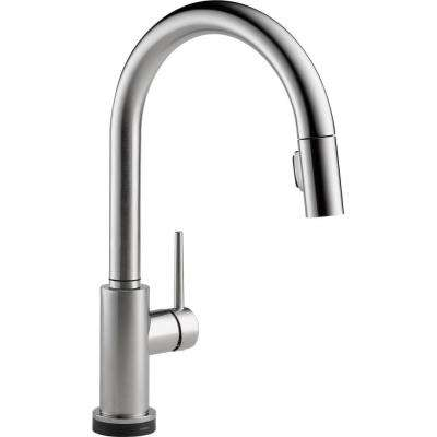 Trinsic Single-Handle Pull-Down Sprayer Kitchen Faucet Featuring Touch2O Technology in Arctic Stainless