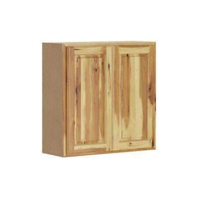 Madison Assembled 30x30x12 in. Wall Cabinet in Hickory