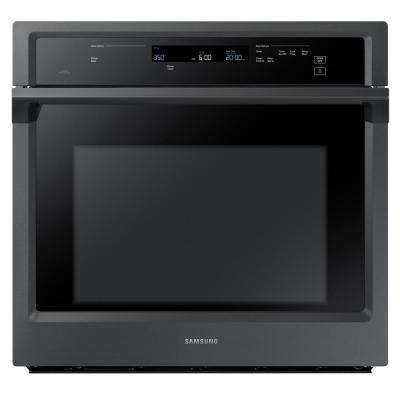 30 in. Single Electric Wall Oven Self-Cleaning with Dual Convection in Black Stainless