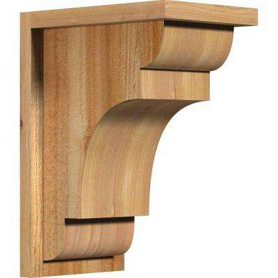 8 in. x 12 in. x 16 in. New Brighton Rough Sawn Western Red Cedar Corbel with Backplate