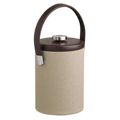 Cosmopolitan 2 Qt. Latte Tall Ice Bucket with Strap Handle and Thick Flat Lid