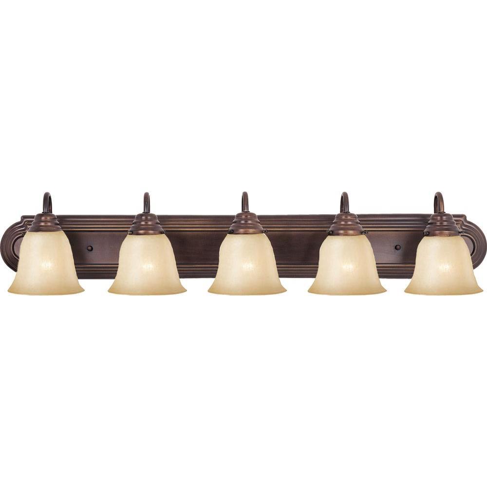 null Essentials 5-Light Oil-Rubbed Bronze Bath Vanity Light
