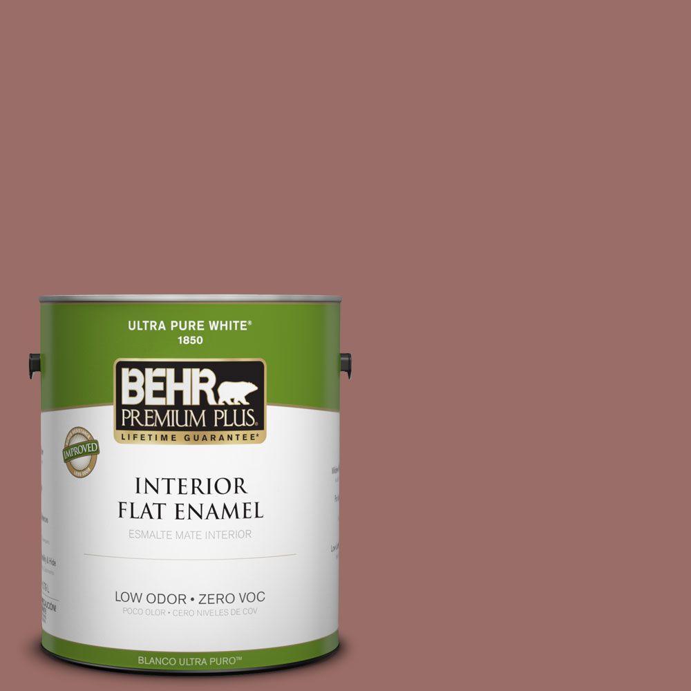 BEHR Premium Plus 1-gal. #170F-6 Gentle Doe Zero VOC Flat Enamel Interior Paint-DISCONTINUED