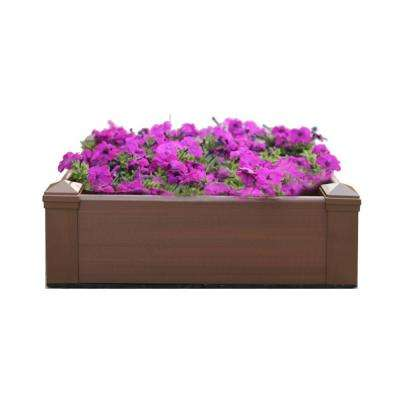 28.8 in. x 28.8 in. Square Peruvian Teak Composite Lumber Patio Raised Garden Bed Kit