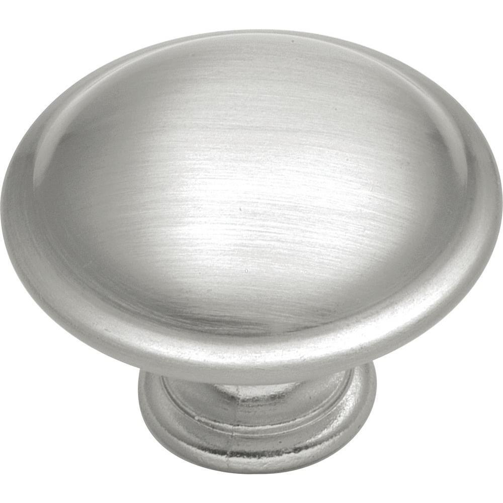 Conquest 1-3/8 in. Satin Nickel Cabinet Knob
