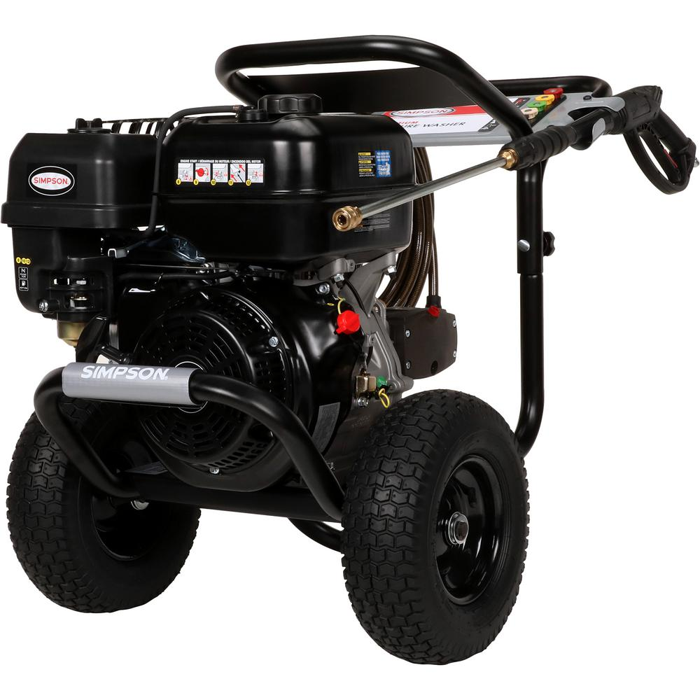 Simpson PowerShot 4400 PSI at 4.0 GPM 420cc with AAA Triplex Plunger Pump Cold Water Pro Gas Pressure Washer