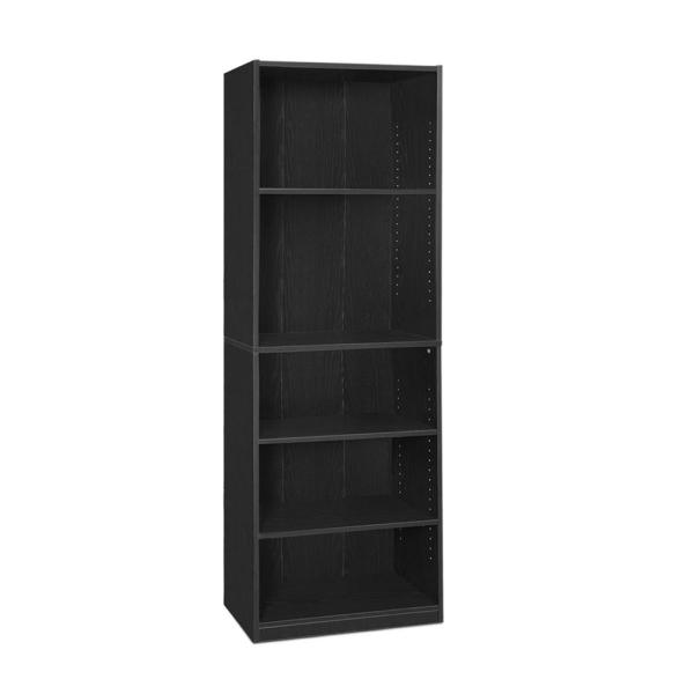 Furinno JAYA 5-Shelf Black Open Bookcase 14110R1BKW