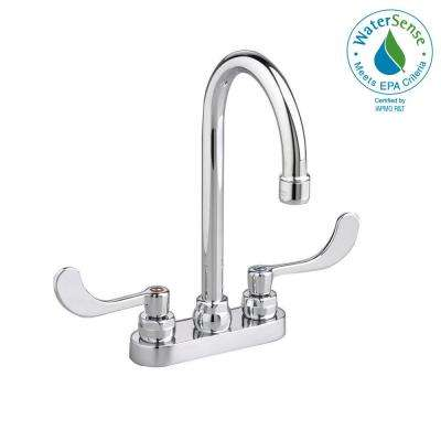 Monterrey 4 in. Centerset 2-Handle High-Arc Bathroom Faucet with Grid Drain in Chrome