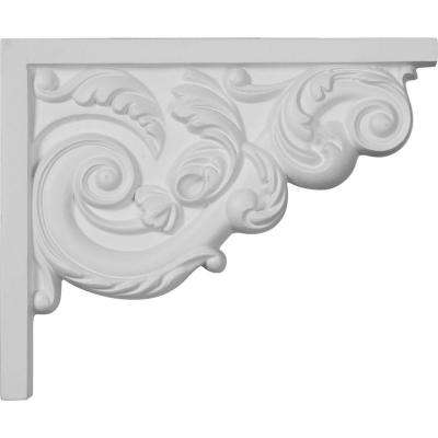 5/8 in. x 8-3/4 in. x 7-1/8 in. Polyurethane Right Small Ashford Stair Bracket Moulding