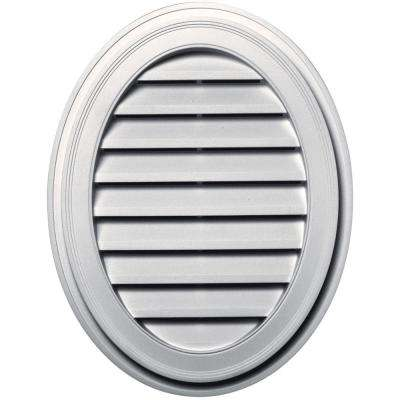 27 in. Oval Gable Vent in Bright White