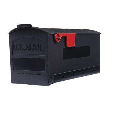 Patriot Medium Plastic Post-Mount Mailbox, Black