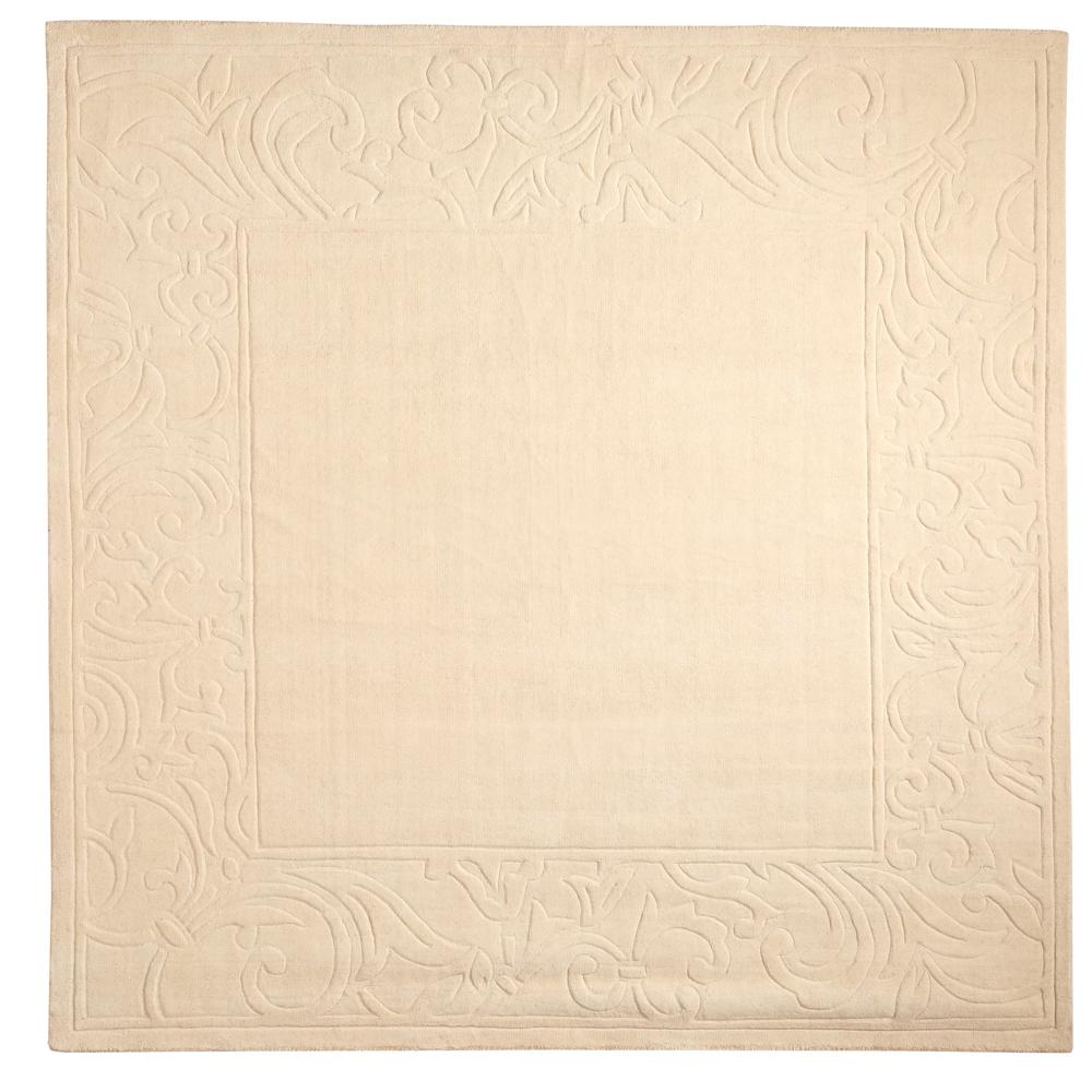 Home Decorators Collection Cyrus Ivory 8 ft. x 8 ft. Squa...