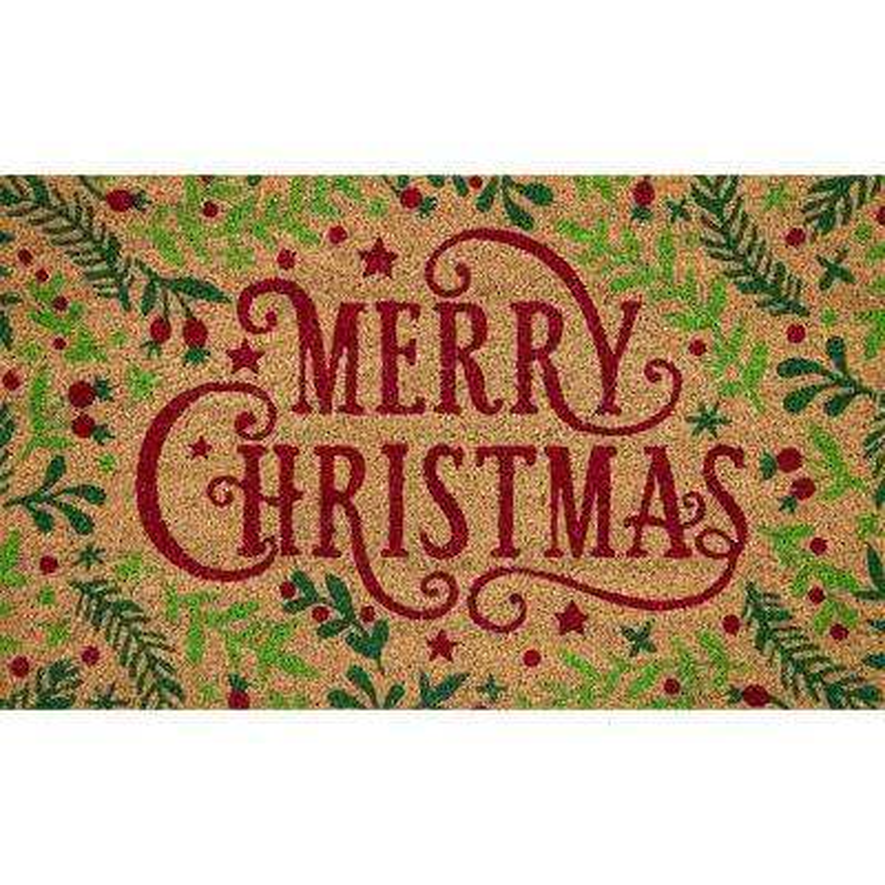 Christmas Rugs 5x7.Merry Christmas Branches 18 In X 30 In Coir Door Mat