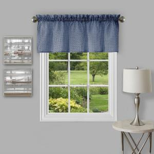 Achim Richmond 14 inch L Polyester Valance in Navy by Achim