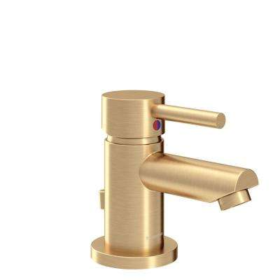 Dia Single Hole Single-Handle Bathroom Faucet with Drain Assembly in Brushed Bronze