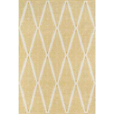 Beacon Citron 3 ft. 6 in. x 5 ft. 6 in. Indoor/Outdoor Accent Rug