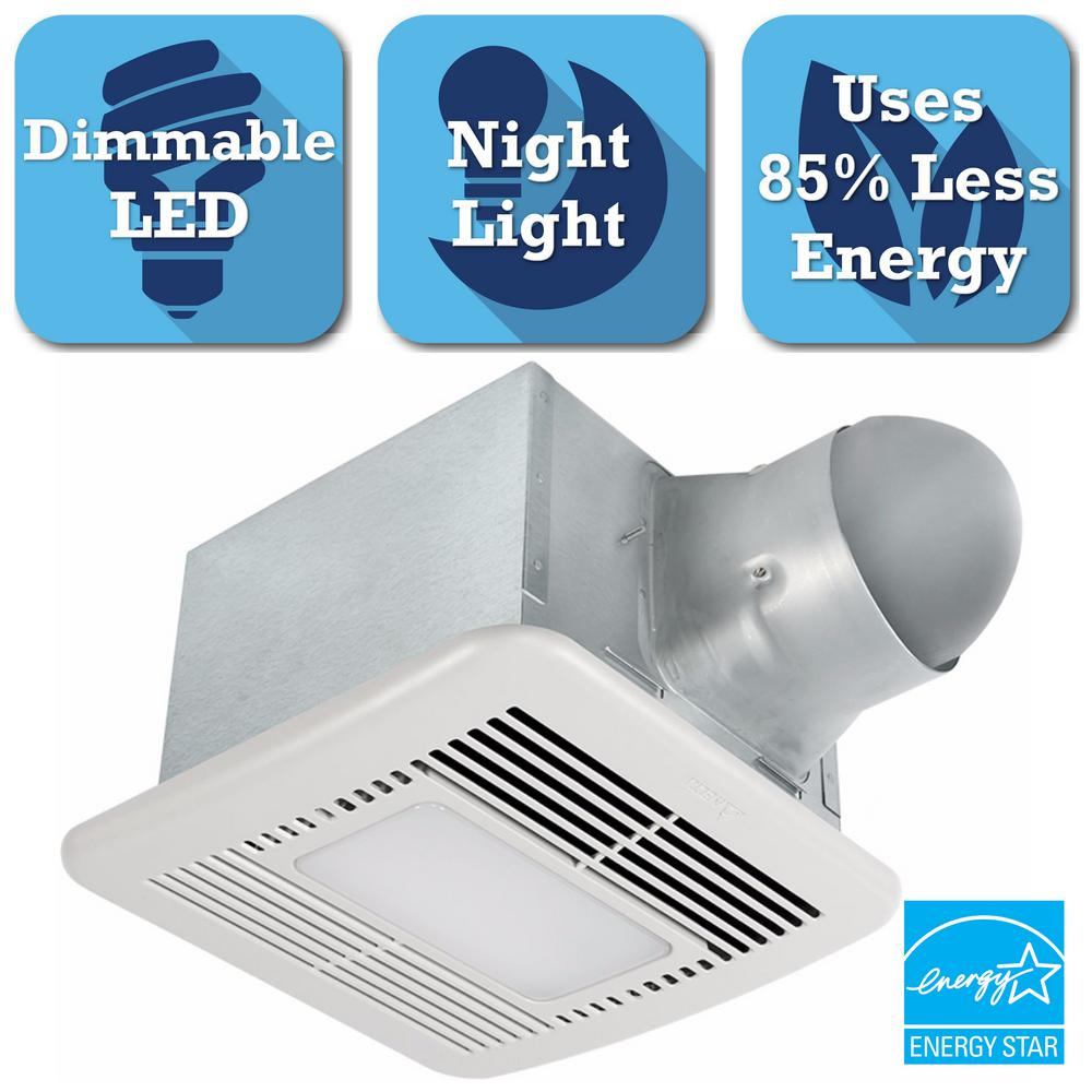 Signature Series 110 CFM Ceiling Bathroom Exhaust Fan with Dimmable LED