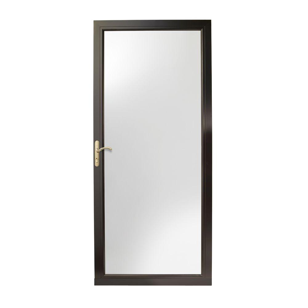 Black Full View Storm Doors Exterior Doors The Home Depot