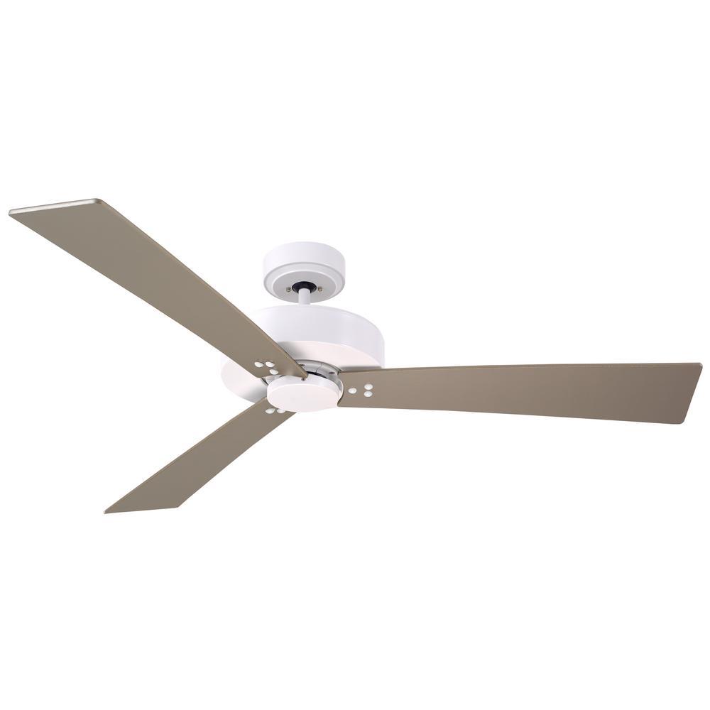 Keane 52 in. Satin White Ceiling Fan