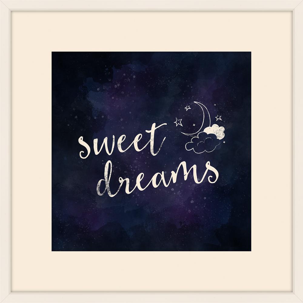 "22 in. x 22 in. ""Sweet Dreams"" Framed Giclee Print Wall Art"