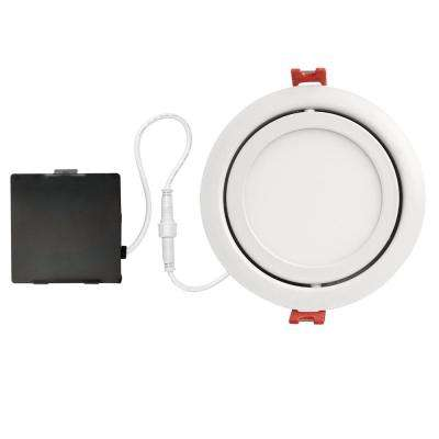 Slimline Swivel 4 in. White Finish Integrated LED Recessed Kit