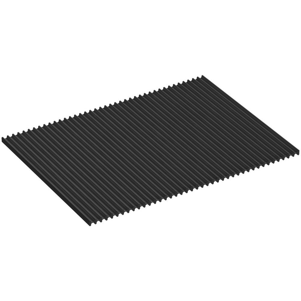 KOHLER Silicone Dish Drying Mat in Charcoal