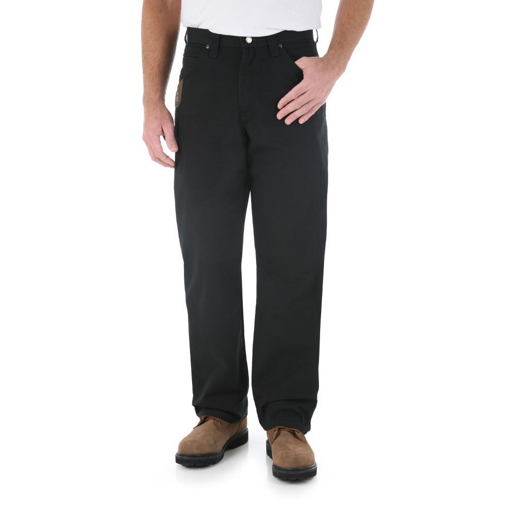 Men's Size 36 in. x 30 in. Black Carpenter Pant