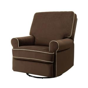 +3. PRI Birch Hill Coffee Brown Fabric Swivel Recliner  sc 1 st  The Home Depot : cloth recliner - islam-shia.org