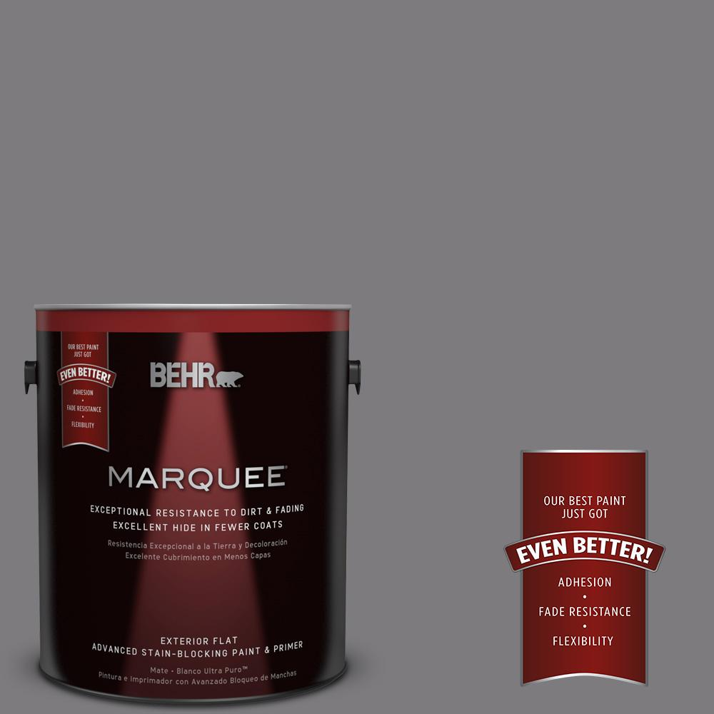 BEHR MARQUEE 1-gal. #BXC-58 Stormy Gray Flat Exterior Paint