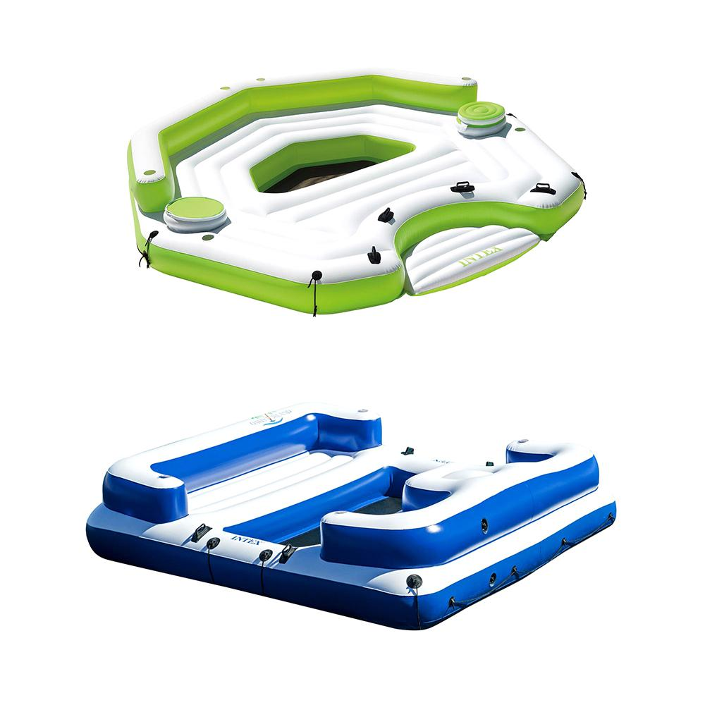 Intex Inflatable Key Largo Island Float with Coolers and ...