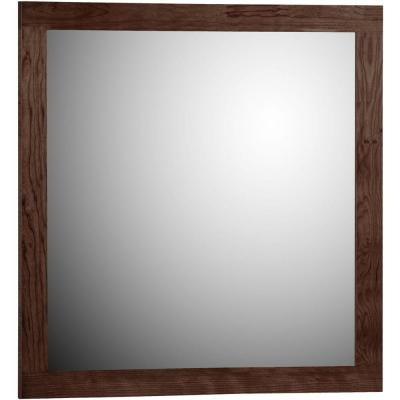 Shaker 30 in. W x .75 in. D x 32 in. H Framed Mirror in Dark Alder