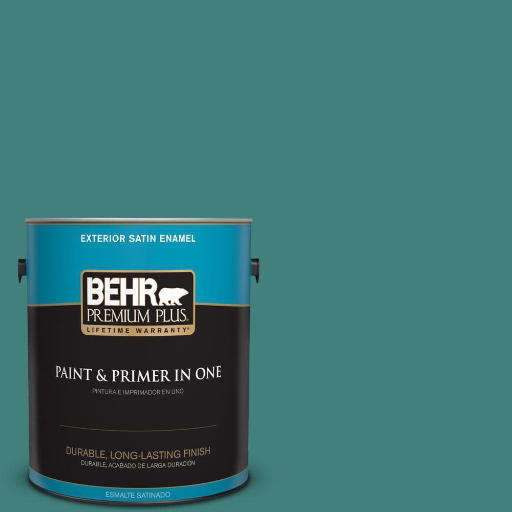 1-gal. #M450-6 Bubble Turquoise Satin Enamel Exterior Paint