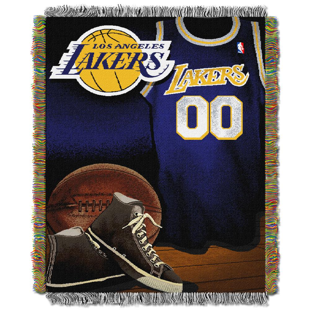 Lakers Vintage Multi Color Polyester Tapestry throw