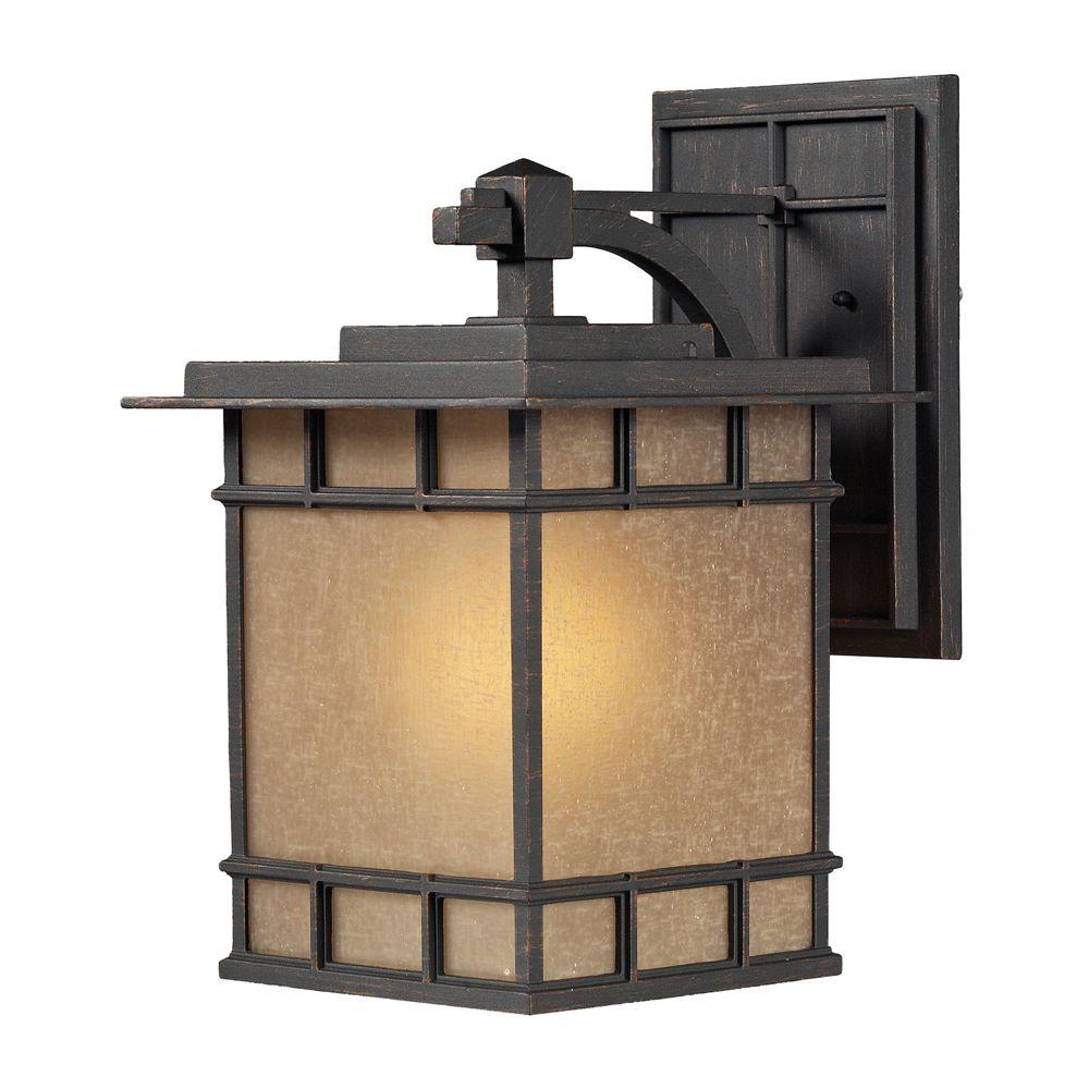 Titan Lighting Newlton 1-Light Outdoor Weathered Charcoal Sconce