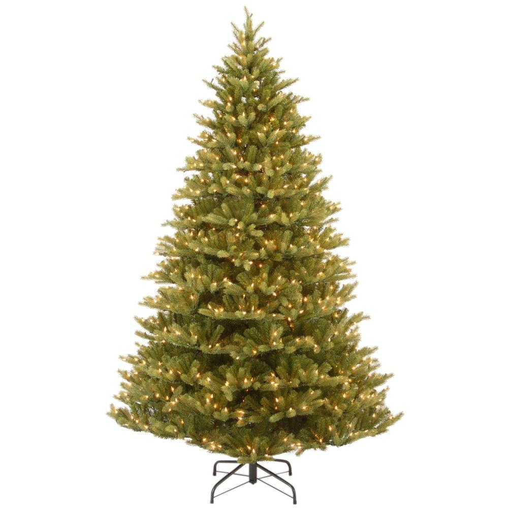 Real Christmas Trees Lowes: National Tree Company 7.5 Ft. Feel Real Normandy Fir