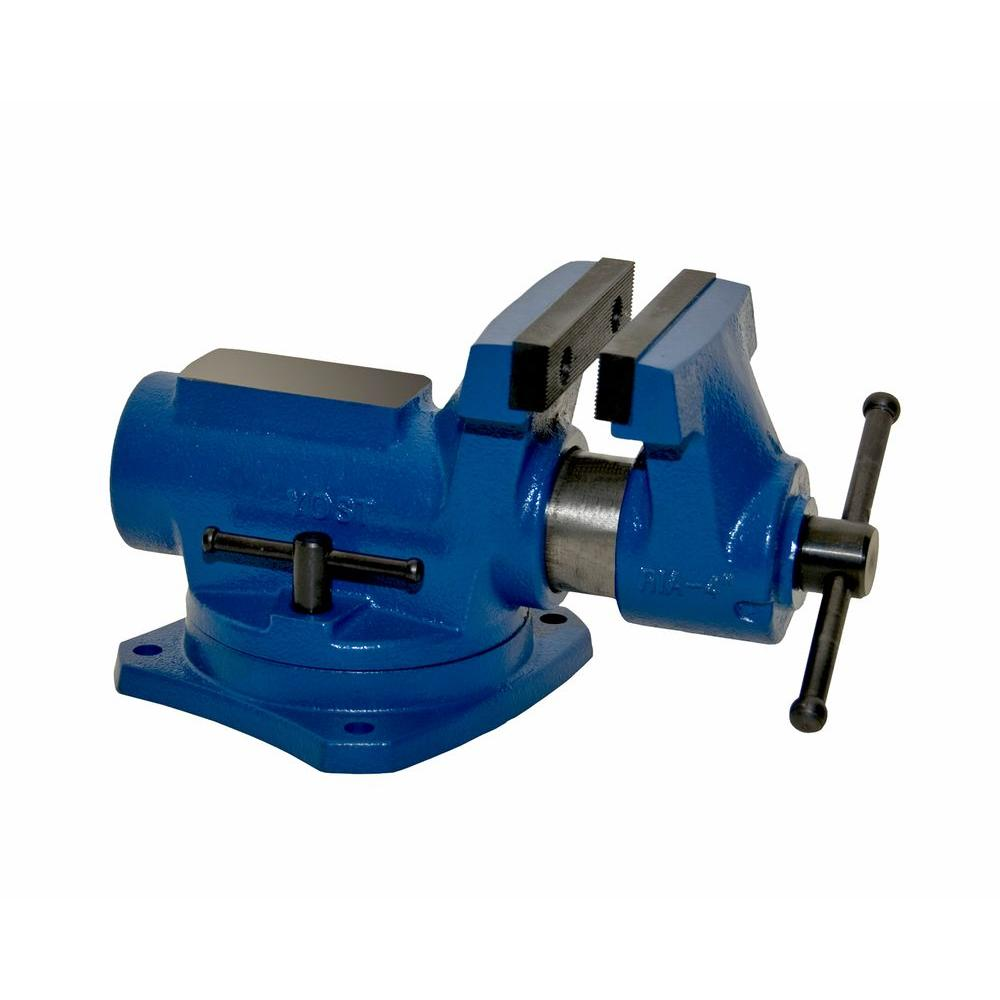 Yost Bench Vise 4 In Compact 360 Swivel Base Grooved Top