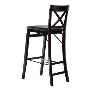 Astonishing Linon Home Decor Triena 30 In Espresso X Back Folding Bar Bralicious Painted Fabric Chair Ideas Braliciousco