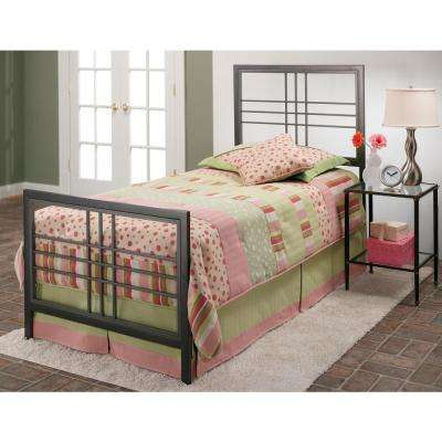 Tiburon Magnesium Pewter Twin Bed Frame