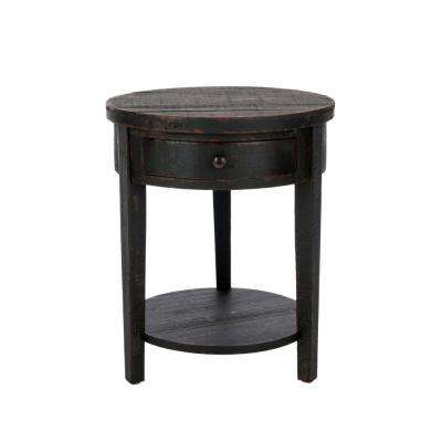 Deanna Black Storage End Table