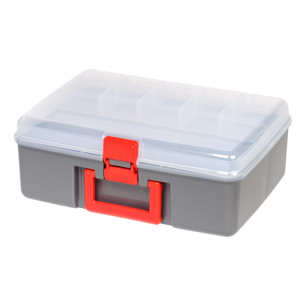 Iris Large Utility Storage Case In Gray 2 Pack 588574 The Home Depot