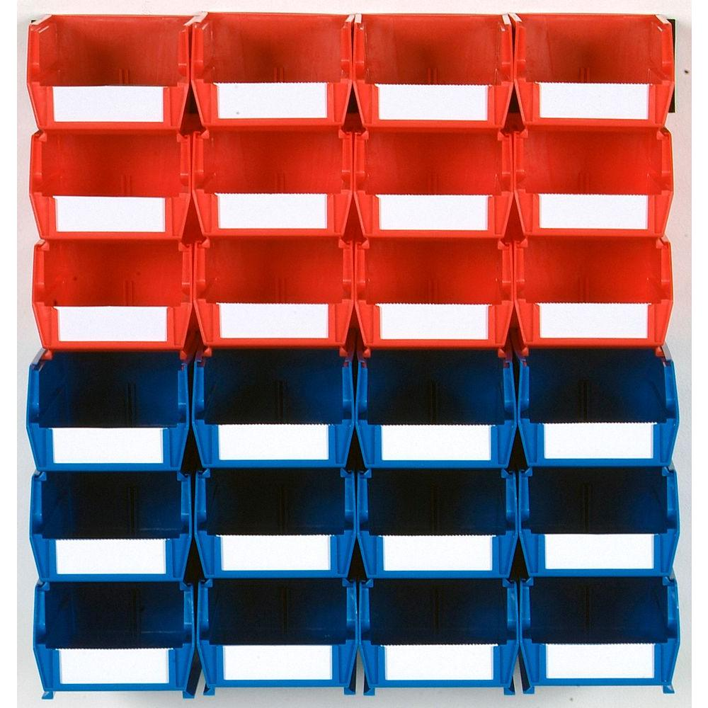 4-1/8 in. W Storage Bin, Red and Blue (26-Piece)