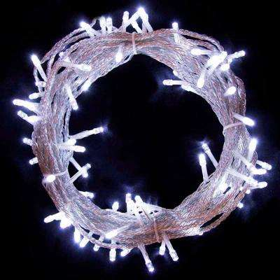 34 ft. 100-Light LED White Electric Powered String Lights