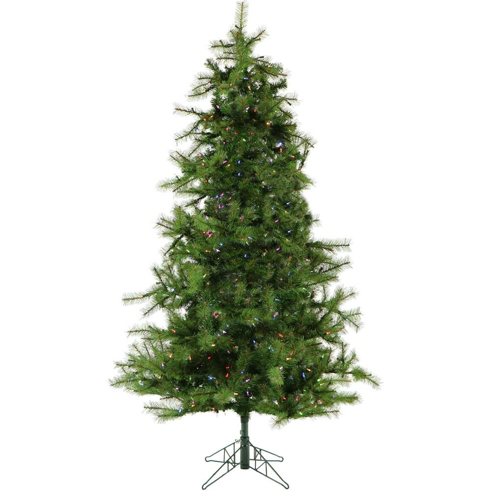 Christmas Time 6.5 ft. Colorado Pine Artificial Christmas Tree with ...