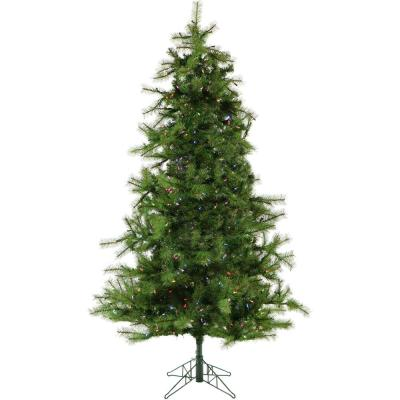6.5 ft. Colorado Pine Artificial Christmas Tree with Multi-Color LED String Lighting and Holiday Soundtrack