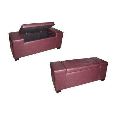 HB red/burgundy Bench