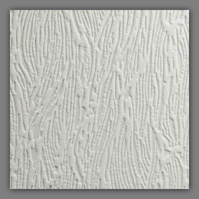 56 sq. ft. Forest Bark Paintable White Wallpaper