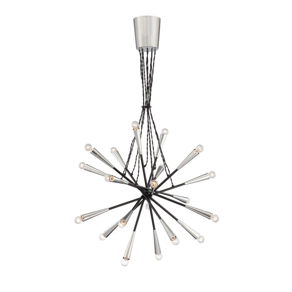 Zazu Collection 20-Light Chrome and Black Pendant